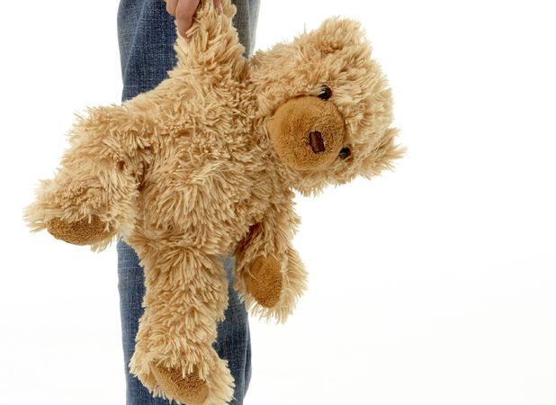 Robert Glyn Baker, reunited with teddy after two years