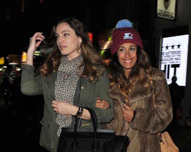 Kelly Brook and Preeya Kalidas leaving the Book of Morman at the Prince of Wales theatre, London, Britain - 30 Jan 2014