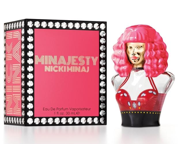 Nicki Minaj's second fragrance Minajesty, launching February 2014.