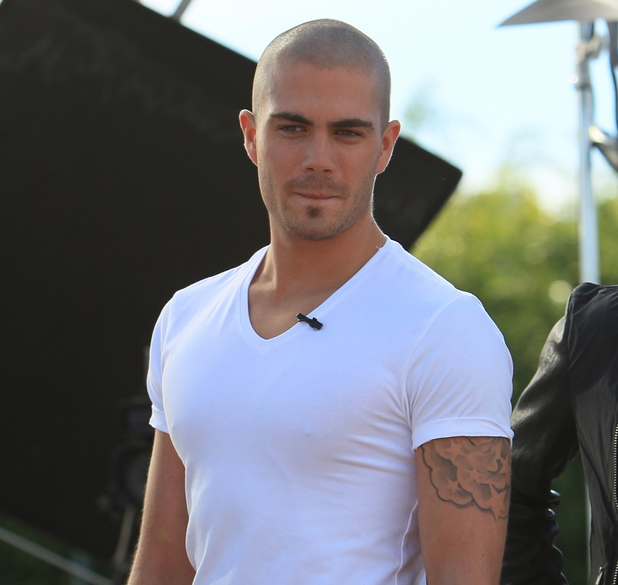 Max George - The Wanted seen at Universal Studios, for an interview with Maria Menounos for the entertainment show Extra. Date Created :10/10/2013