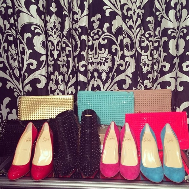 Paris Hilton shows off new purchases from Christian Louboutin - 30 January 2014