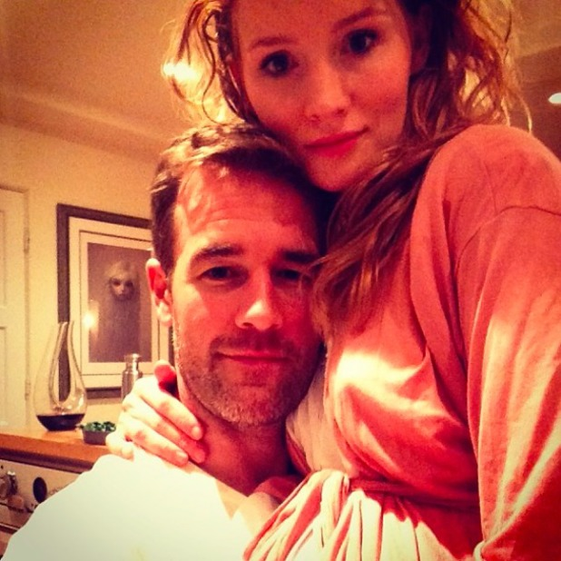 Kimberly Van Der Beek shares cute picture with husband James, January 2014