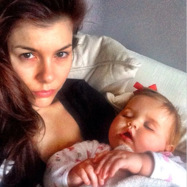Imogen Thomas shares selfie from sick bed as she and daughter Ariana battle illness, February 1 2014