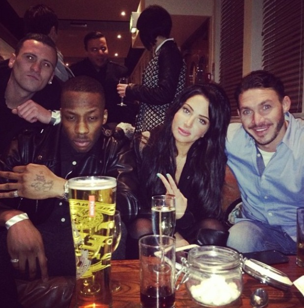 Tulisa and Kirk Norcoss support Dappy following Celebrity Big Brother's final last night (30 January).