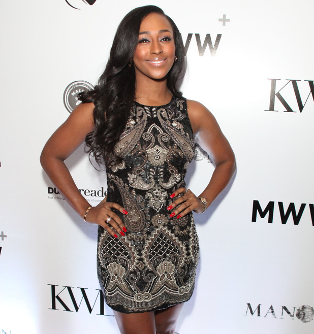 KWL 4th Annual Sports and Entertainment celebration, New York, America - 30 Jan 2014 Alexandra Burke and Estelle