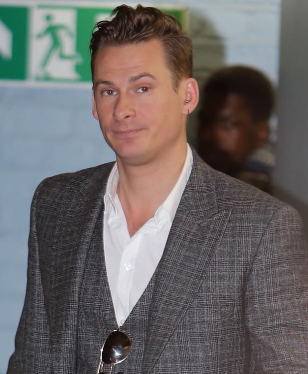 Lee Ryan outside the ITV studios - 29 January 2014