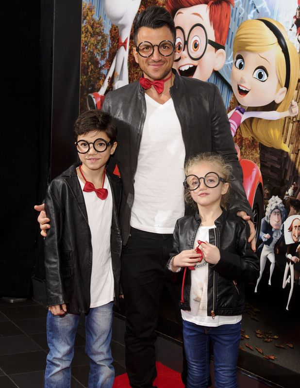 Peter Andre attends the VIP gala screening of Mr Peabody And Sherman 3D in London - 01 Feb 2014