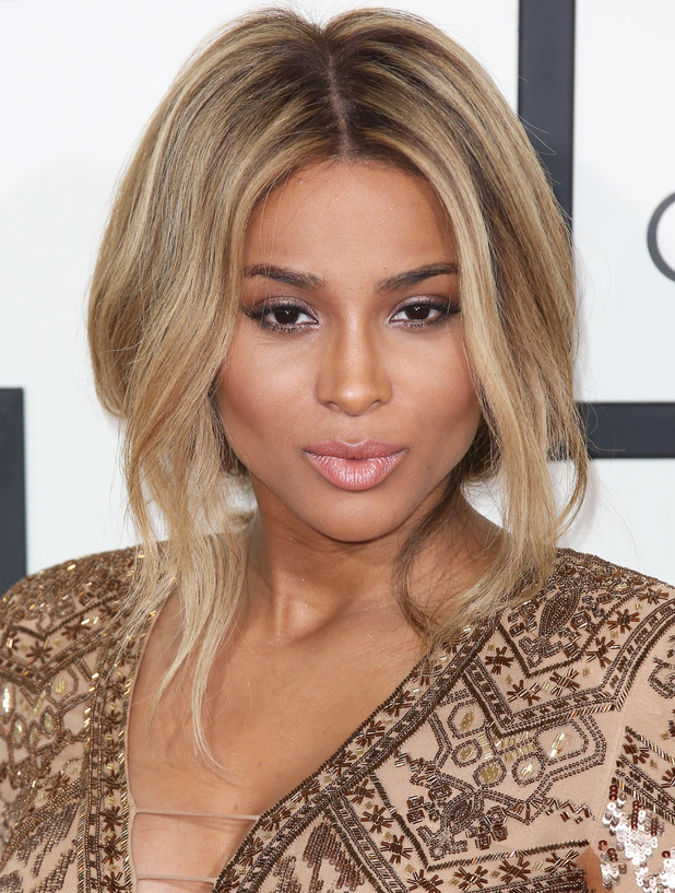 Pregnant Ciara at The 56th Annual GRAMMY Awards held at the Staples Center - Arrivals - 26 Jan 2014