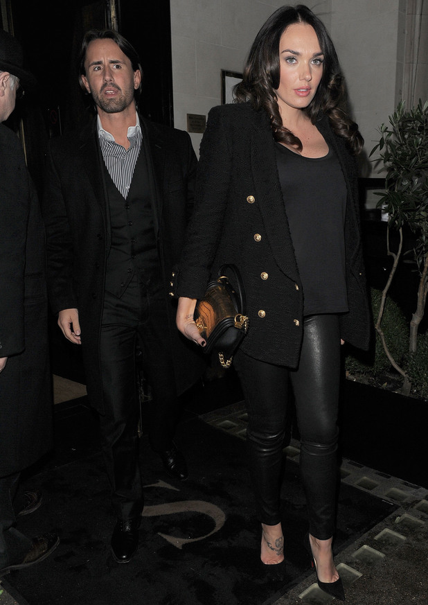 Tamara Ecclestone and husband Jay Rutland leavinng Scott's restaurant in Mayfair - 28 January 2014