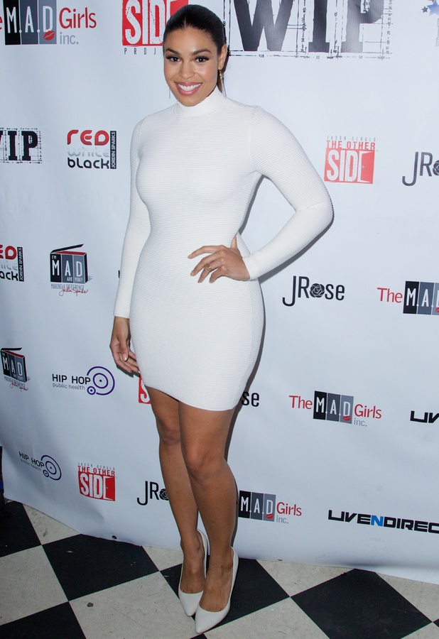 Jordin Sparks at the New York Red, White and Black Superbowl Party in New York, America - 29 January 2014