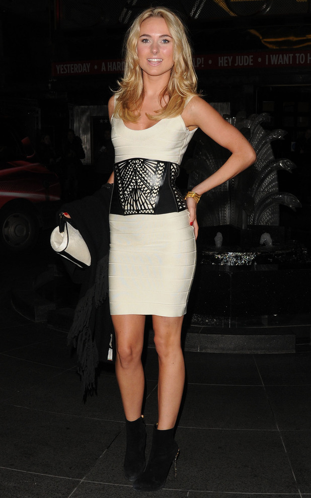 Kimberley Garner at the Kate Moss at the Savoy exhibition in London - 30 January 2013