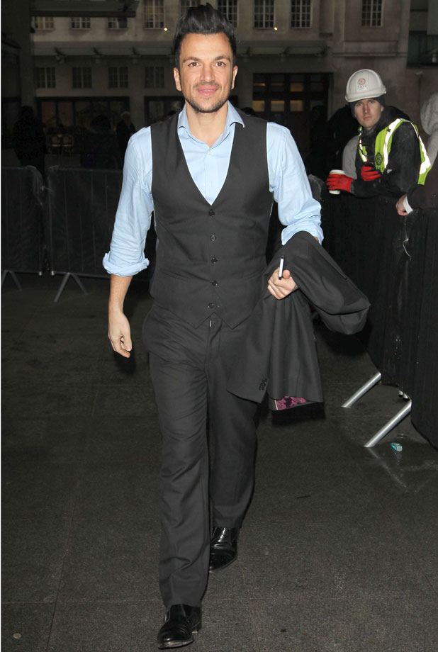 Peter Andre at the BBC Radio 1 Studios, London, Britain - 29 Jan 2014