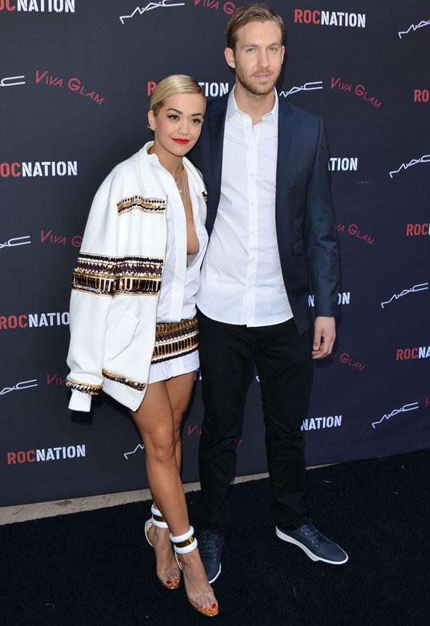 Rita Ora and Calvin Harris, Roc Nation Pre-Grammy Brunch, Los Angeles, America - 25 Jan 2014