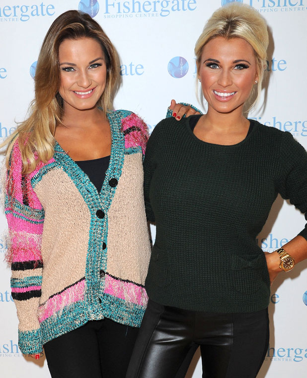 Samantha and Billie Faiers open Minnies Boutique pop up shop in Fishergate Shopping Centre, Preston, Lancashire, UK, July 2013