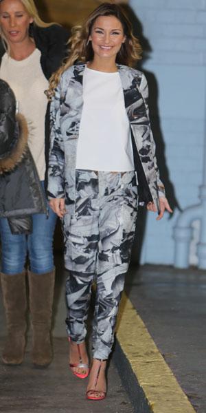 Sam Faiers outside ITV Studios, 31 January 2014