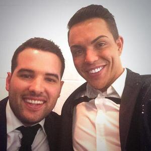 TOWIE's Bobby Norris and Ricky Raymentt ahead of their photo shoot. (7 February).