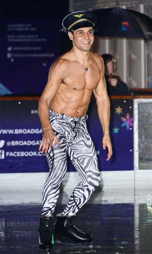 Celebrities at Broadgate Ice Rink, London, Britain - 06 Feb 2014 Chico Slimani
