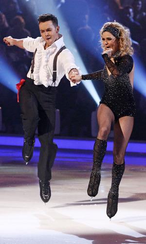 Ray Quinn and Maria Fillipov - 'Dancing on Ice' TV show, Elstree Studios, Hertfordshire, Britain - 02 Feb 2014