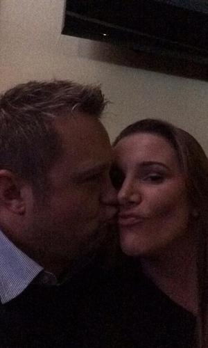 Sam Bailey and husband Craig. (17 January 2014).