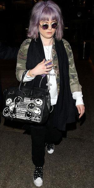 Kelly Osbourne arrives at the Los Angeles International Airport, America - 04 Feb 2014