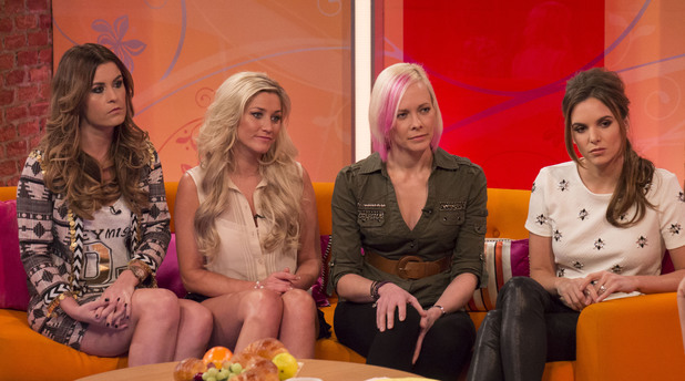 'Lorraine Live' TV Programme, London, Britain. - 06 Feb 2014 Girl Thing - Anika Bostekaar, Jodi Albert, Linzi Nartin, Michelle Barber