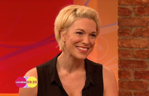 Benidorm's Hannah Waddingham announces pregnancy on Lorraine - 6 February 2014