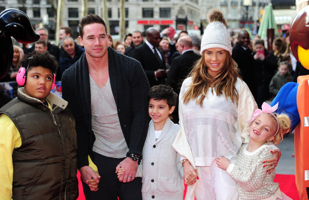 Katie Price attends The Lego Movie film screening with her family in London - 09 Feb 2014