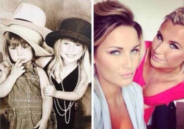 Sam Faiers and Billei Faiers throwback picture: Feb 2014