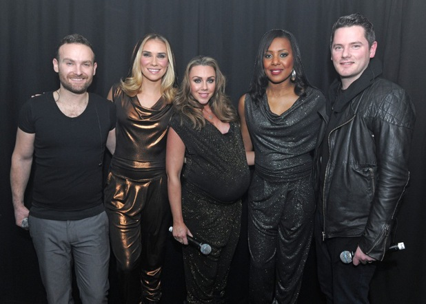 Kevin Simm, Jessica Taylor, Michelle Heaton, Tony Lundon,  Kelli Young - Liberty X perform at G-A-Y in London - 1 Feb 2014