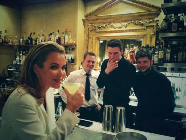 Amanda Holden enjoys cocktails after Britain's Got Talent auditions in Birmingham - 2.2.2014