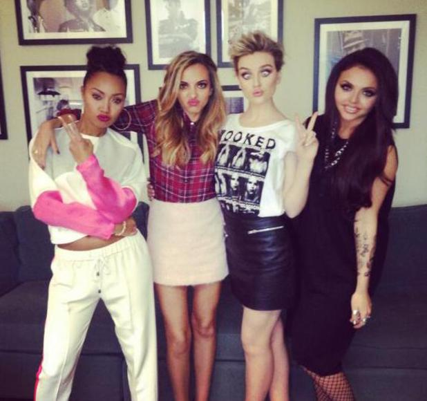 Little Mix - Perrie Edwards, Leigh-Anne Pinnock, Jesy Nelson and Jade Thirlwall - in New York. (5 February).