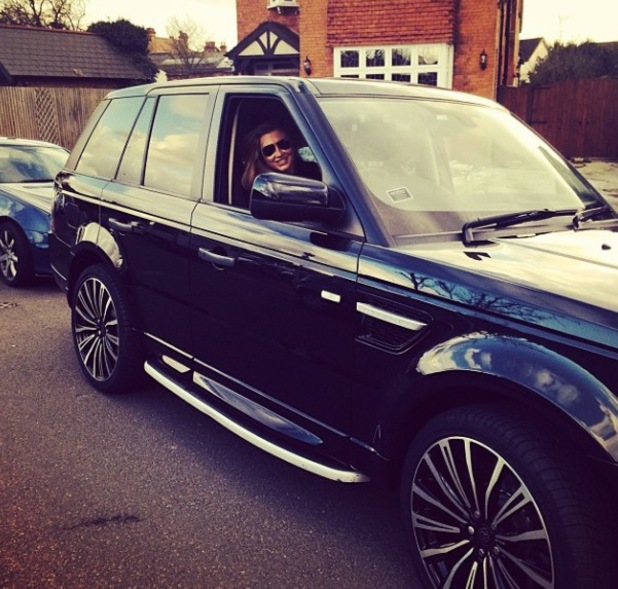 Lauren Goodger buys new Range Rover car - 4.2.2014