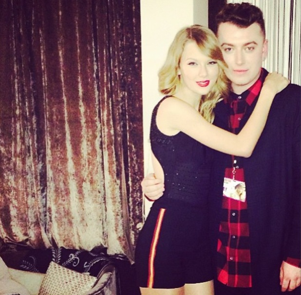 Taylor Swift in concert with Sam Smith, O2 Arena, London, Britain - 01 Feb 2014