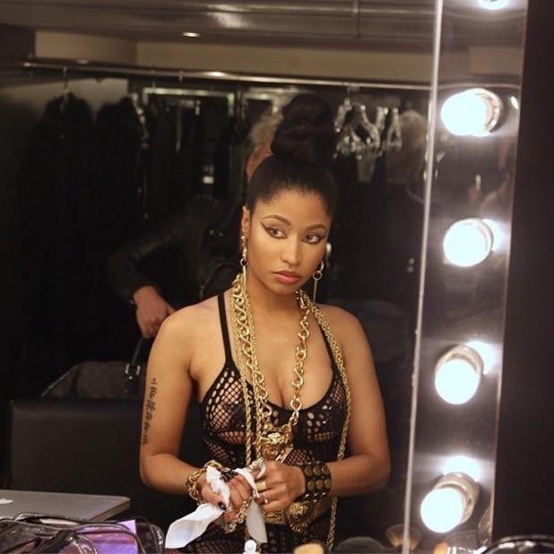 Nicki Minaj poses for an Instagram picture - 6 February 2014