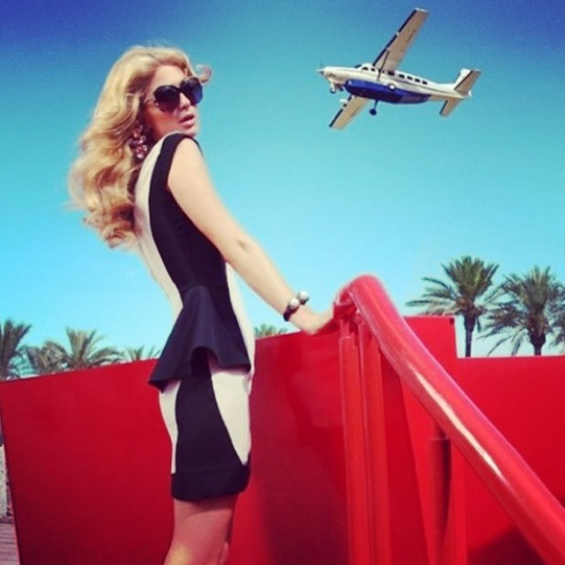 Paris Hilton posts an Instagram snap of herself at the airport - 4 February 2014