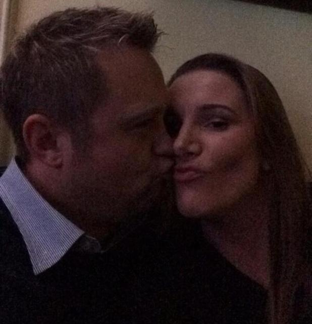 Sam Bailey and husband Craig. (17 January 2014).