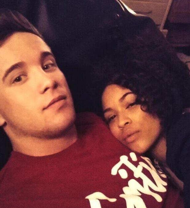 Former X Factor contestant Sam Callahan cosies up to Tamera Foster for selfie (2 February).