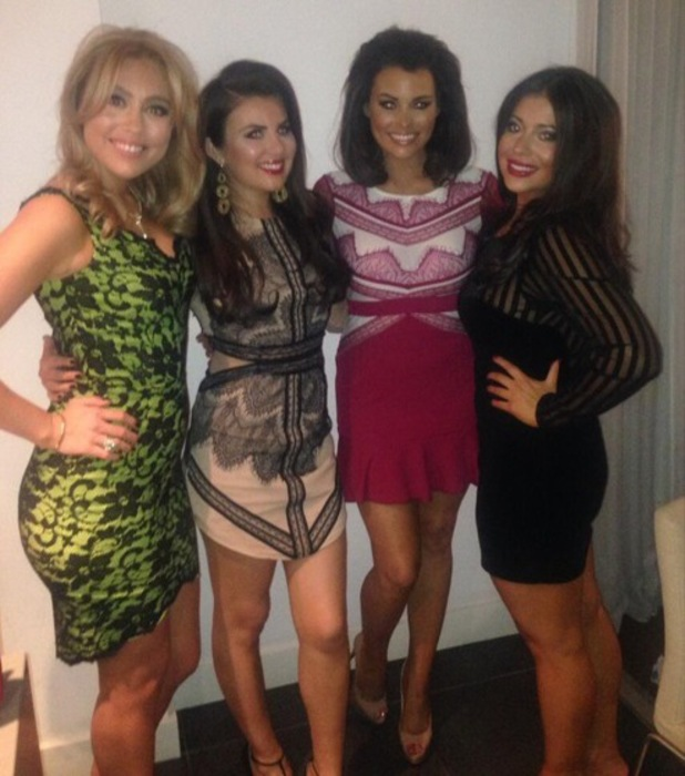 TOWIE's Jessica Wright poses with friends before a night out - 1 February 2014