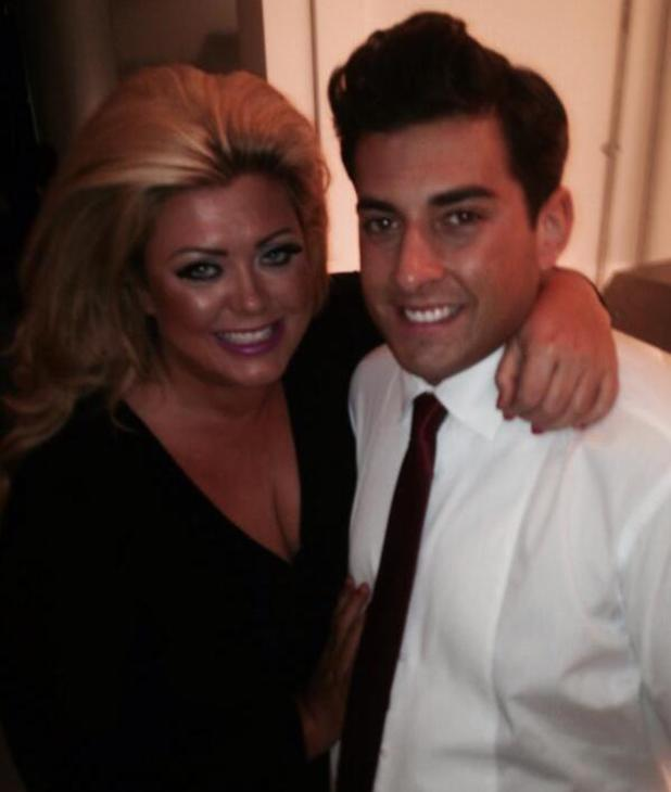 TOWIE's Gemma Collins and James 'Arg' Argent ahead of their photo shoot. (7 February).