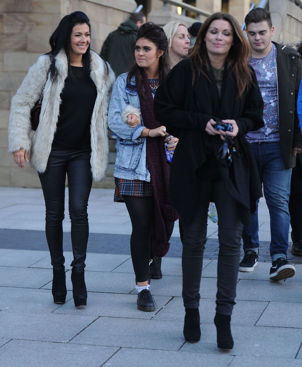Kym Marsh takes daughter Emily Cunliffe to audition for Britain's Got Talent in Manchester, 7 February 2014