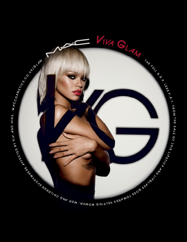 Rihanna launches her MAC Viva Glam campaign with proceeds going to the MAC Aids Fund - February 2014