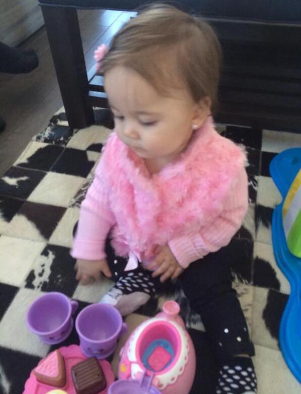 Paul D daughter Amabella having a tea party - 31.1.2014