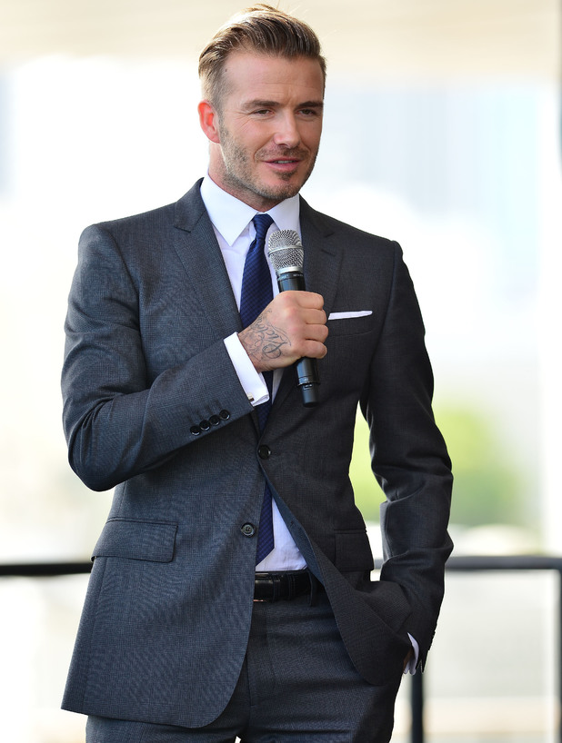 David Beckham attends a press conference to announce plans to launch a new Major League Soccer franchise - 6 Feb 2014