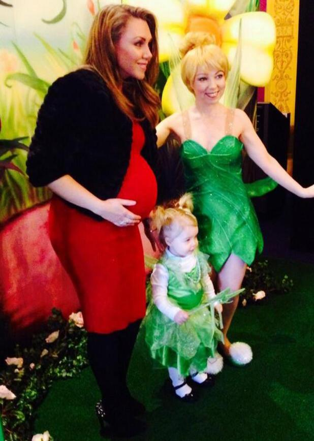 Michelle Heaton and daughter Faith meet Tinkerbell - 1 Feb 2014