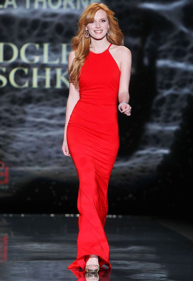 Bella Thorne - Go Red For Women/The Heart Truth Red Dress Collection show in New York, America - 6 February 2014