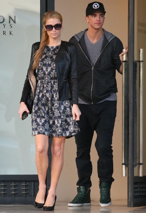 Paris Hilton and River Viiperi go shopping in Los Angeles at Barneys of New York - 4 February 2014