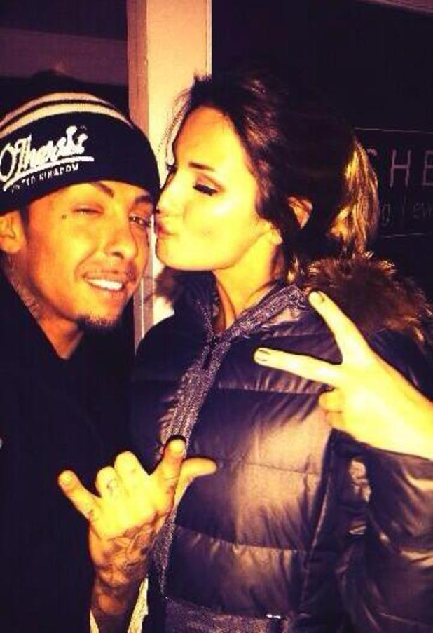 Dappy poses for photo with Sam Faiers - 3.2.2014