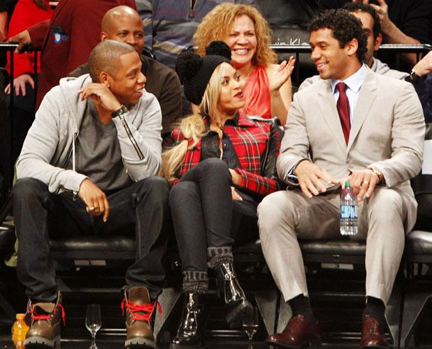 Jay Z and Beyonce at Philadelphia 76ers v Brooklyn Nets, NBA Basketball game, Barclays Center, New York, America - 03 Feb 2014
