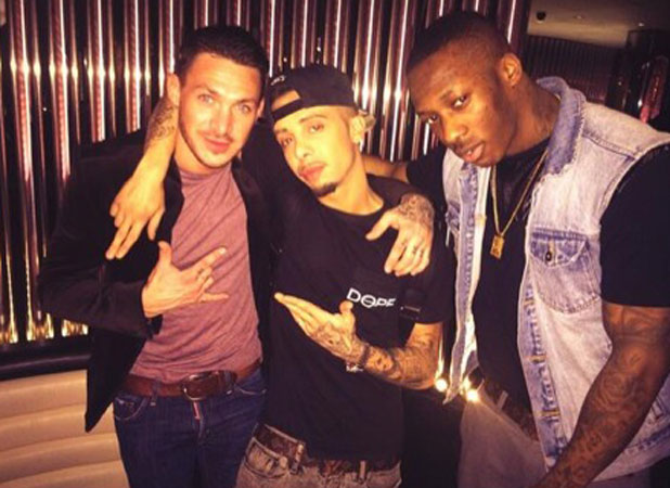 Dappy and Kirk Norcross at STK London, 4 February 2014