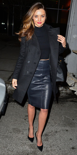 Miranda Kerr out and about in New York on 31 January 2014